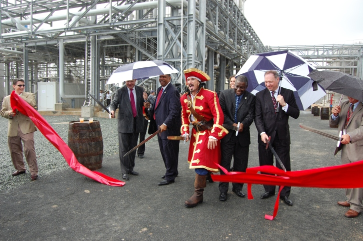 Diageo grand opening - ribbon cutting